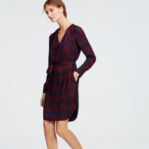ANN TAYLOR   PLAID SHIRT DRESS